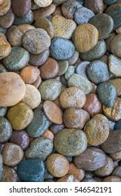 Wet rock river texture background