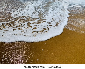 Wet Sand Wave Beach Southern California