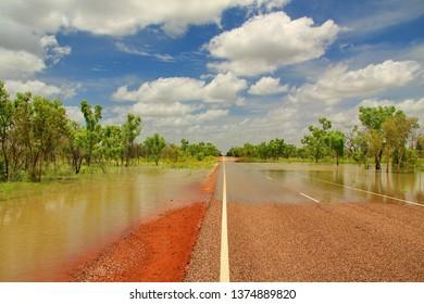 The wet season in Australian bush