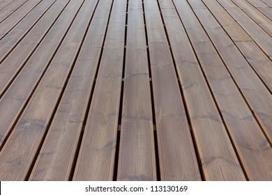 wet terrace brown wood floor background