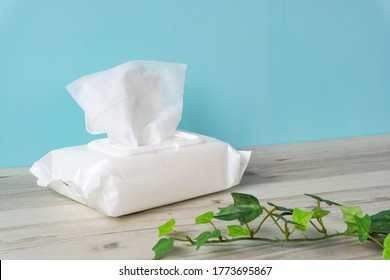 Wet tissue on the table - Shutterstock ID 1773695867