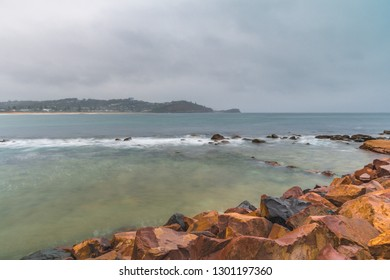 Wet Weather Day at the Seaside - Capturing an overcast sunrise from Avoca Beach on the Central Coast, NSW, Australia.