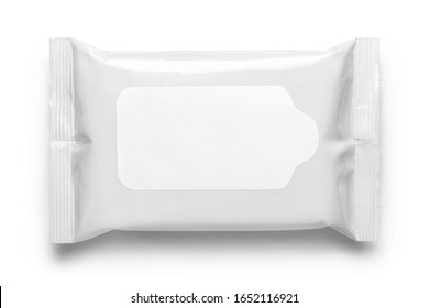 Wet wipes pouch, isolated on white background