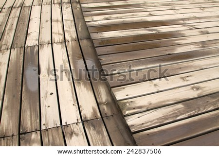 Wet Wood Floor Closeup Photo Stock Photo Edit Now 242837506
