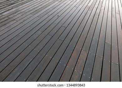 Wet wood flooring