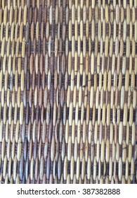 Wet wooden background texture of rattan