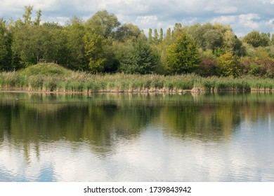 Wetland in Luxembourg, nature reserve Haff Reimich