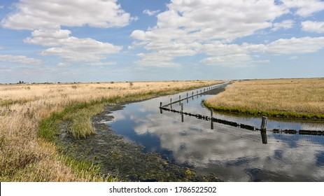 Wetlands developed on Wallasea Island, Essex, England, as a nature reserve.  The many hiking trails provide good, flat walking and open views.