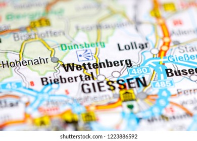 Wettenberg. Germany on a map