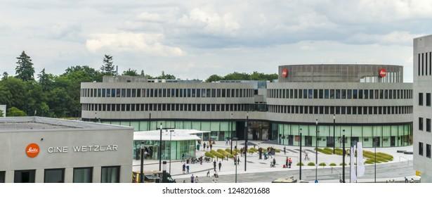 WETZLAR, GERMANY 17. JUNE 2018:  Company building of Leica Camera AG, Leitz Park, Wetzlar, Hesse, Germany, Europe