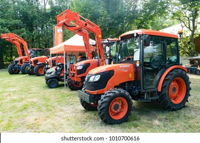 WETZLAR, GERMANY JULY, 2017: KUBOTA Tractor is a famous japanese manufacturer, Kubota offers industry-leading products and solutions.