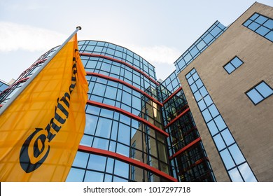 WETZLAR, HESSEN, GERMANY - June 2017 : CONTINENTAL administration building in WETZLAR.  CONTINENTAL is  leading manufacturers for commercial vehicle tires, based in Hannover, Niedersachsen, Germany.