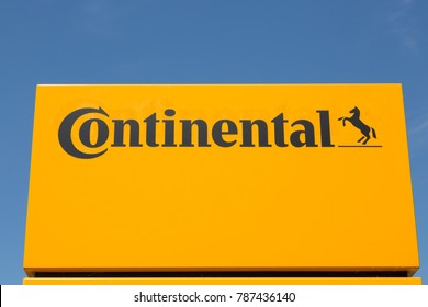 WETZLAR, HESSEN, GERMANY - June 2017 : CONTINENTAL Logo on a building in WETZLAR.  CONTINENTAL is one of the world's leading manufacturers for vehicle tires, based in Hannover, Niedersachsen