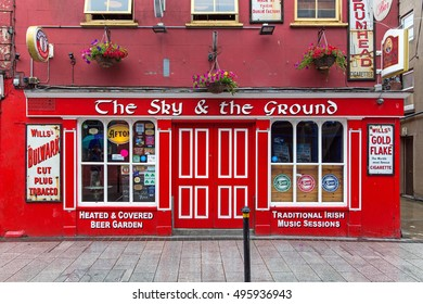 WEXFORD, IRELAND AUGUST 1, 2016: The Sky and the Ground public house.