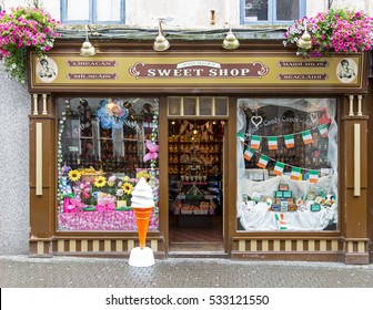 WEXFORD, IRELAND - AUGUST 1, 2016: An Auntie Nellies Sweet shop, one of 14 stores throughout Ireland. Aunty Nellie prides herself in adopting the traditional role of retailing.