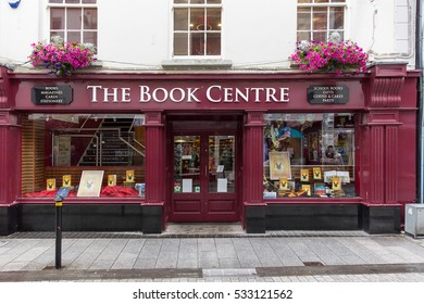 WEXFORD, IRELAND - AUGUST 1, 2016: The Book Centre shop. It is a family run business and has outlets also in Waterford, Kilkenny and Naas.