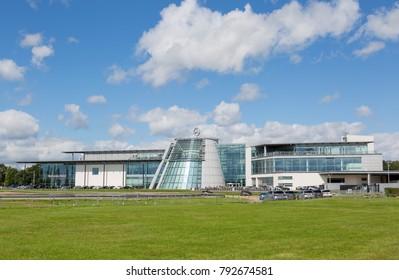 WEYBRIDGE, SURREY UK -  AUGUST 17th 2017: Mercedes Benz World, located on the famous Brooklands site. Weybridge UK.