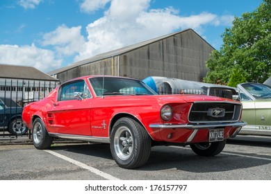 WEYBRIDGE, SURRY, UK - AUGUST 18:  on show at the annual Brooklands Motor Museums Mustang and Anything American Day in August 2013.