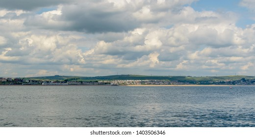 Weymouth Skyline A, view from the sea, May 2019 Dorset England