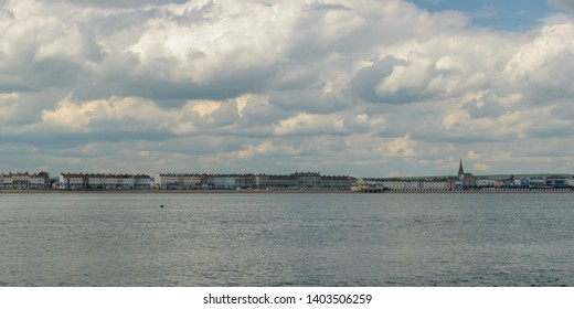 Weymouth Skyline B, view from the sea, May 2019 Dorset England