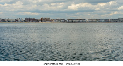 Weymouth Skyline C, view from the sea, May 2019 Dorset England