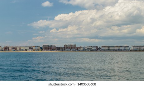Weymouth Skyline D, view from the sea, May 2019 Dorset England