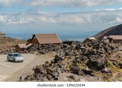Whakapapa Village on Mount Ruapehu Volcano, Tongariro National Park, North Island of New Zealand