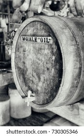 Whale Oil Barrel in Old Store processed with an antique look