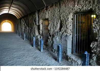 The Whaler's Tunnel of Round House Prison was the first permanent building built in the Swan River Colony at Fremantle  port city in Perth, Australia