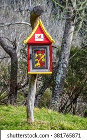 WHANGANUI, NEW ZEALAND - JULY 29, 2012: Decorated mailbox in the Whanganui National Park, North Island of New Zealand