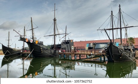 The Wharf of the Caravels, Palos de la Frontera, Huelva province, Region of Andalusia, Spain, Europe