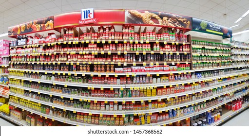 Supermarket Shelf Panorama Images, Stock Photos & Vectors
