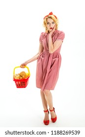 What do you think about this one. What to buy. savings on purchases. worried retro woman go shopping. dont worry. woman worried about purchase saving and family finance. vintage girl need credit
