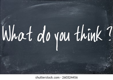 what do you think question write on blackboard