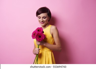 What a happiness receiving pretty flowers
