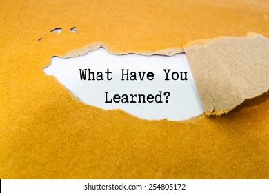 Was hast du gelernt?