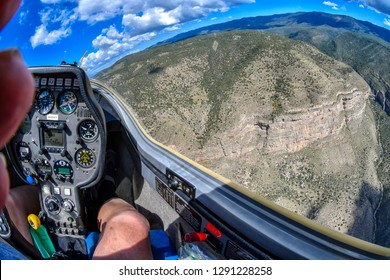What you are seeing here are the Sacramento Mountains, which even today are rough and rugged. Riding a sailplane  is a real joy. No engine noise, very smooth and you get a great view. Alamogordo, New