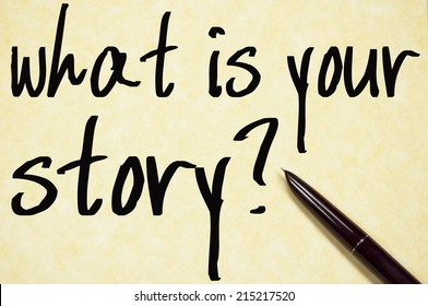 what is your story text write on paper