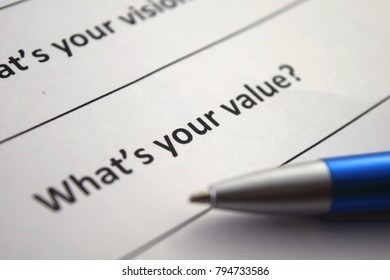 What's your value?