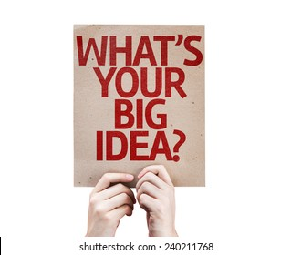 What's Your Big Idea? card isolated on white background