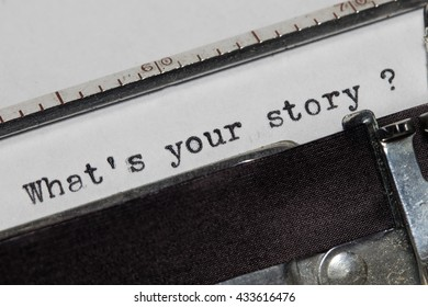What's your story written on an old typewriter