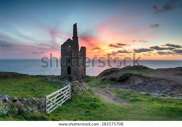Wheal Owles Mine at Botallack near St just on the Cornwall coast