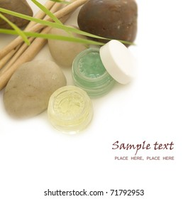 wheat cosmetics with the place for your text