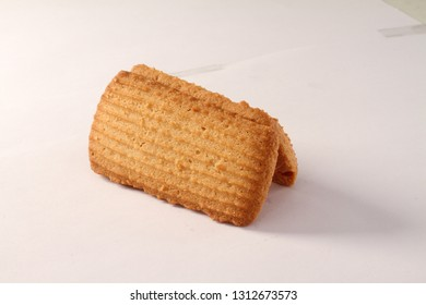wheat flour (Atta) Biscuits with white background