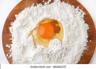 Wheat flour and chicken yolk