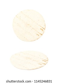 Wheat flour tortilla isolated