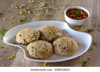 Wheat rava idli or broken wheat idli is a delicious Indian breakfast dish.