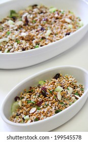 wheatberry salad healthy vertical