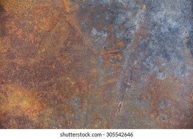 wheathered rust and scratched steel texture useful for background
