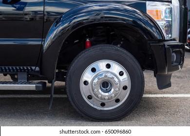 Wheel of a big car